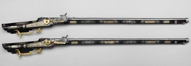 Аркебузы охотничьи с колесными замками (пара)